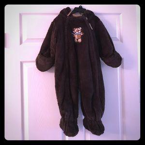 Le Petite Rothschild Brown Bear Snowsuit