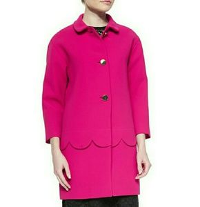 Kate spade scalloped coat pink size 8 NWT