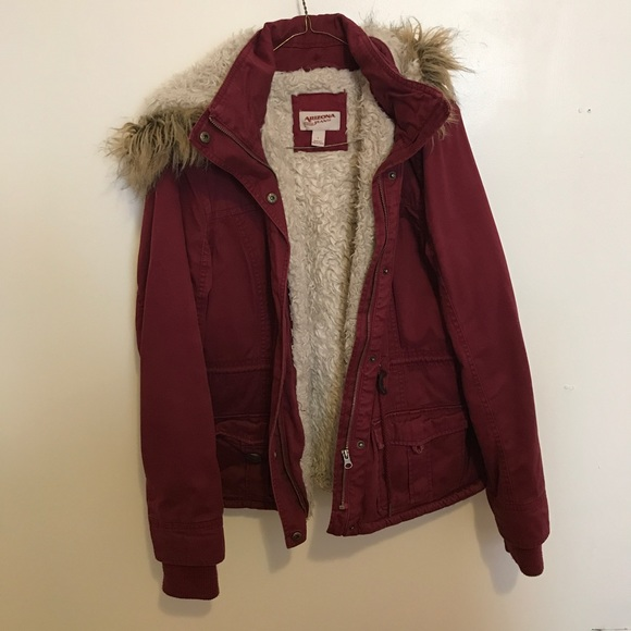 4740e4ffca4 Burgundy winter jacket