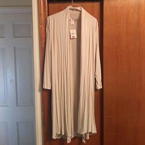 NWT XL Cream Long Open Sweater