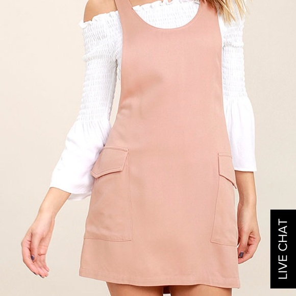 b5fb50ee24 Lulu s Dresses   Skirts - Lulus Jumper Blush Jumper Dress