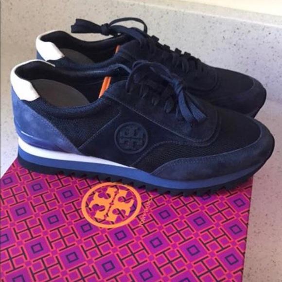 ec18afda7 Women Tory Burch blue tennis shoes size 8