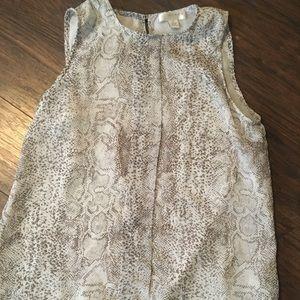 Alligator Skin Print Tunic Tank
