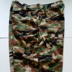CHAMS Mens Camouflage 6 Pocket Cargo Shorts