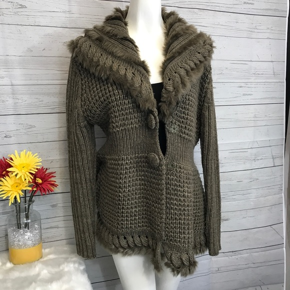 71% off Sioni Sweaters - Sioni petite large brown sweater cardigan ...