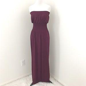 Dresses & Skirts - Purple strapless maxi dress