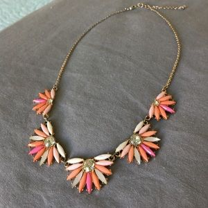 J.Crew bright flower necklace