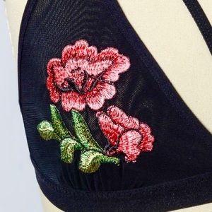 e0ca30c868a6f Intimates   Sleepwear - SALE 💋 S M L Sheer Mesh Rose Embroidered Bra