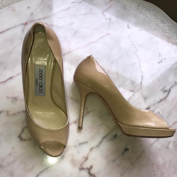 525c83afbc Jimmy Choo Shoes - Jimmy Choo Luna beige patent leather pumps sz 35.5