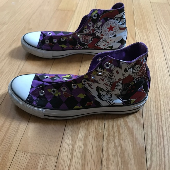 a42e52e0fca0 Converse Other - Purple chuck taylor Allstar Harley Quinn Sneakers