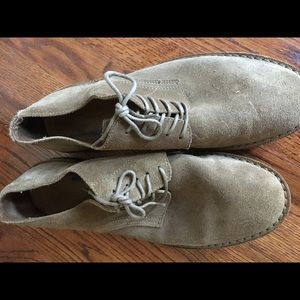 Preowned J. Crew Suede Bucks Tan Casual Oxfords