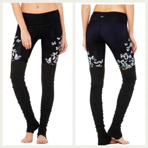 773548baf8d81f ALO Yoga Pants   Gypset Goddess X Alo Goddess Butterfly Legging ...