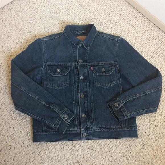 19b6b06b Levi's Jackets & Coats | Vintage Levis Lined Dark Jean Jacket Size ...