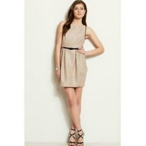Armani Exchange Metallic belted fitted Tulip Dress