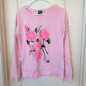 Royal Rabbit Rose sweatshirt
