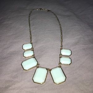 J.Crew turquoise gem necklace
