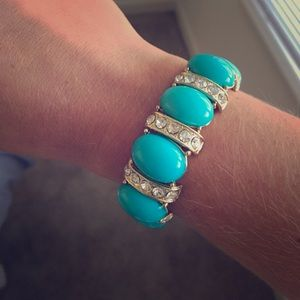 J.Crew turquoise and diamond bracelet