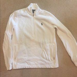 Ralph Lauren Women's Golf 3/4 zip Sweatshirt.