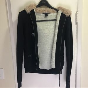 Marc by Marc Jacobs Faux Fur Lined Jacket