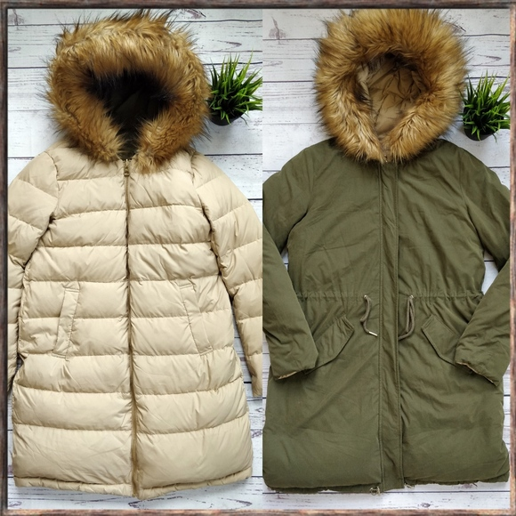c7064c82 ZARA Reversible Down Jacket Puffer Parka Coat, M. M_59b9966bb4188e178200201d