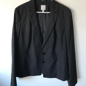 Halogen 16 pinstripe two Button blazer career new