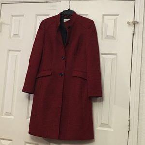 Liz Claiborne Suits Red&black coat buttonfront