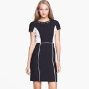Rebecca Taylor studded color block sheath dress