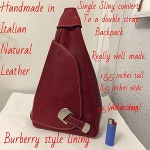 Handbags - Nice leather sling/ backpack