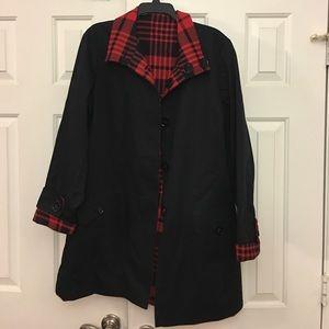 Reversible Anne Klein Coat Size tag inside pocket