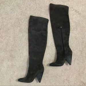 """""""Hollie"""" Suede Over The Knee Boots"""