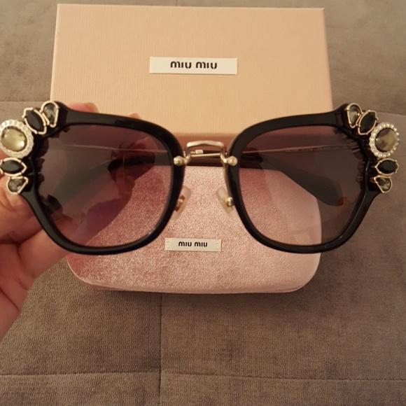 b3ae6dc19f MiuMiu Jewel Cateye Sunglasses BNIB
