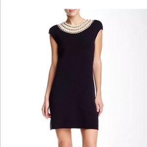 Tory Burch Daisy Knit 100% Silk Contrast Dress