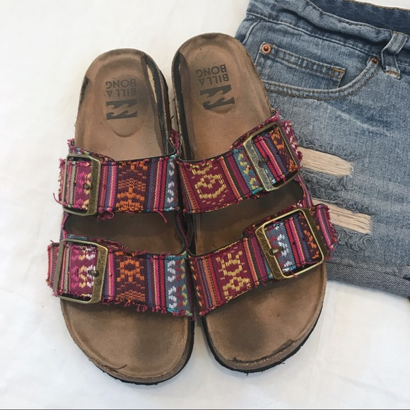 59d0dcdf9698 Billabong Shoes - Pacsun Billabong Boho Birkenstock Style Sandals