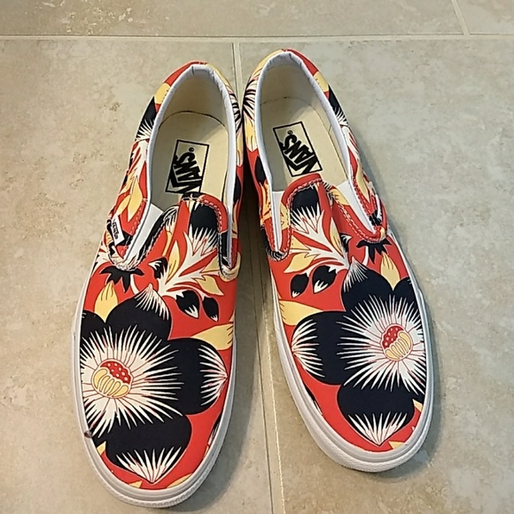 b01c97481f Vans floral slip ons. Special edition for JCrew. M 59b99f7e522b45a61e004935