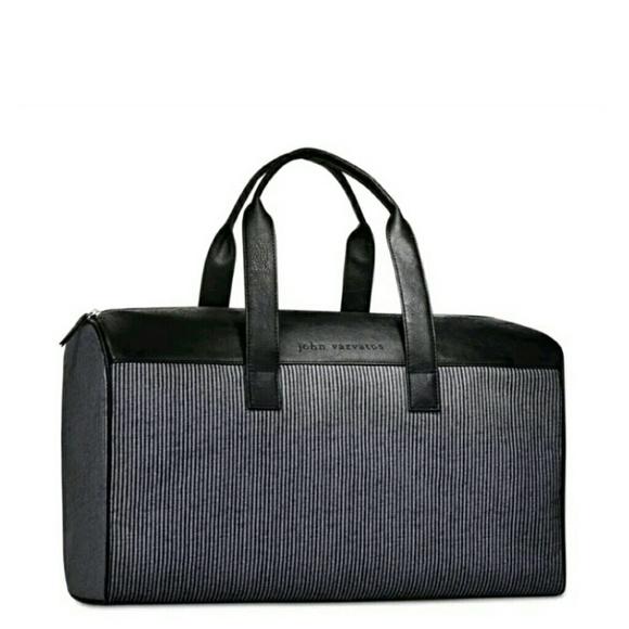 949403881a87 🆕John Varvatos Striped Weekender Bag. NWT