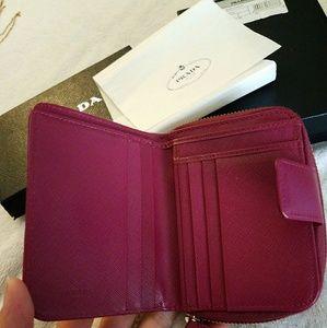 Prada Bags - Sold Prada wallet saffiano leather portafoglio