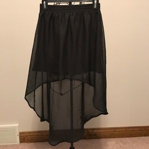 High Low Black Skirt
