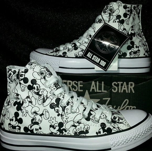 mickey converse shoes