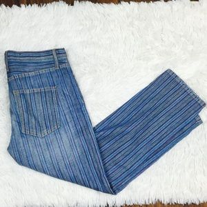 Current/Elliott Multistripe Boyfriend Jeans