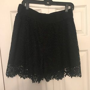 Pants - Black lace shorts. 3x
