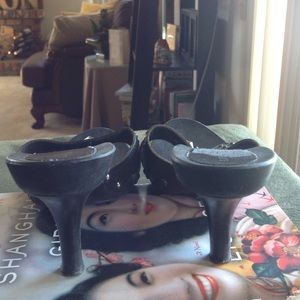 Gloria Vanderbilt Shoes - Gloria Vanderbilt leather studded slip on heels