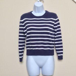 CLOSET CLOSING J.Crew Navy and White Sweater