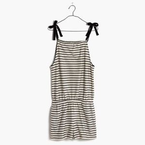 Madewell navy and white striped romper