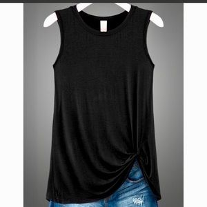 Tops - Sleeveless Front Knot Top
