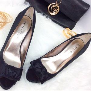 "White House Black Market Shoes - White House Black Market ""Rachel"" Satin Heels"