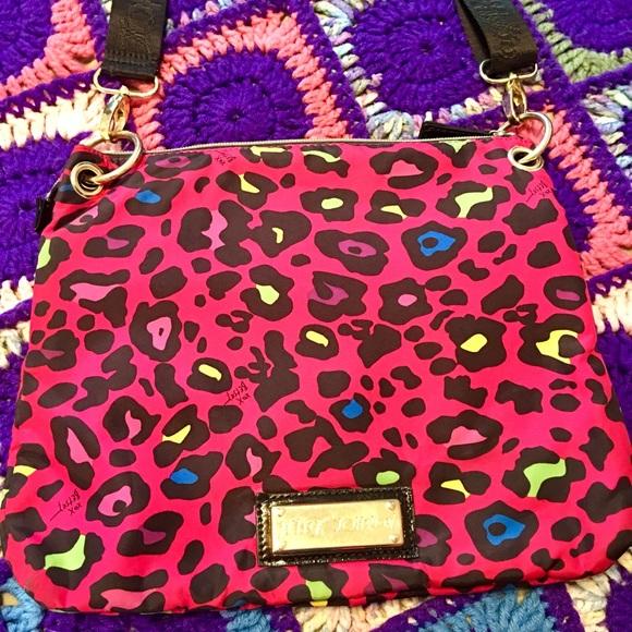 c8aea48692 Betsey Johnson Neon Colors Cheetah Print Crossbody