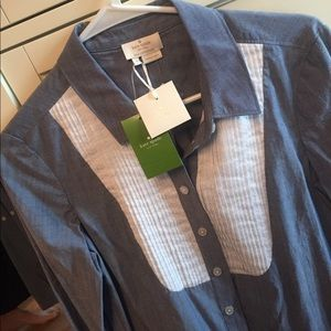 NWT KATE SPADE chambray shirt