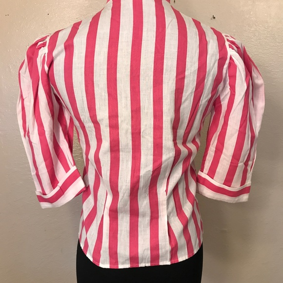 Vintage Tops - Adorable 80's pussy bow top blouse