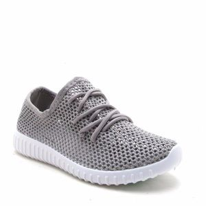Shoes - SALE‼️ Darby Perforated Slip On Sneakers Gray Mesh