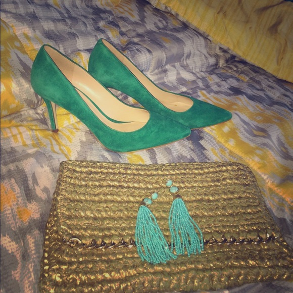 Shoes - Green Suede Aldo Heels🔥🔥